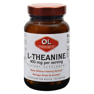 Olympian Labs L-theanine - 400 Mg - 60 Vegetarian Capsules