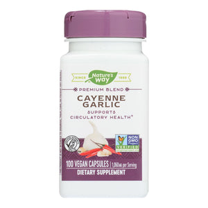 Nature's Way - Cayenne And Garlic - 100 Capsules