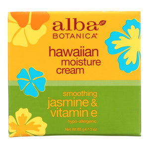 Alba Botanica - Hawaiian Moisture Cream Jasmine And Vitamin E - 3 Oz