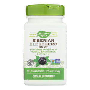 Nature's Way - Siberian Eleuthero Root - 100 Capsules