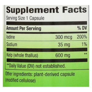 Nature's Way - Kelp - 100 Capsules