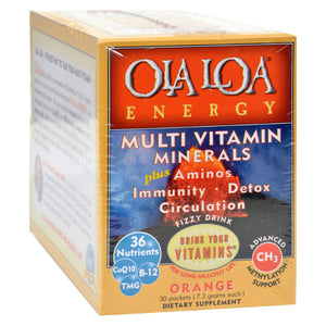Ola Loa Products Energy Multi Vitamin - Orange - 30 Packet