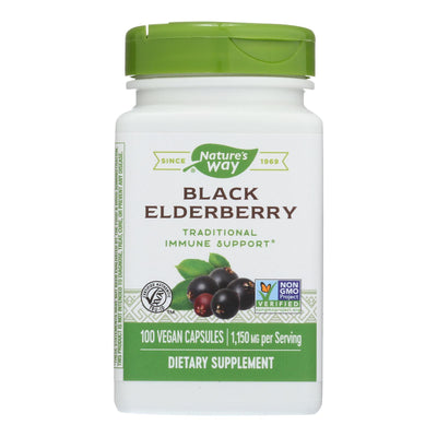 Nature's Way Elderberry Berries And Flowers - 100 Capsules