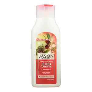 Jason Pure Natural Shampoo Long And Strong Jojoba - 16 Fl Oz