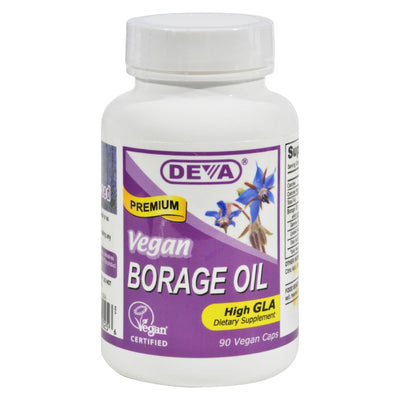 Deva Vegan Vitamins - Borage Oil - 500 Mg - 90 Vegan Capsules