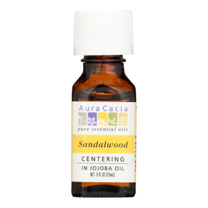 Aura Cacia - Precious Essentials Sandalwood Blended With Jojoba Oil - 0.5 Fl Oz