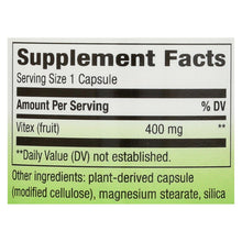 Nature's Way - Vitex Fruit - 400 Mg - 100 Capsules