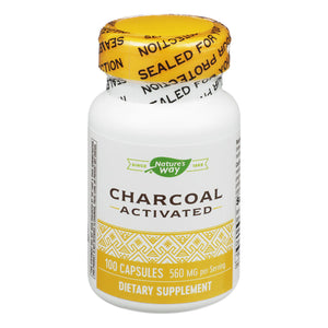 Nature's Way - Activated Charcoal - High Potency - 100 Capsules