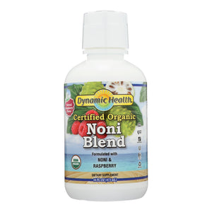 Dynamic Health Organic Certified Noni Juice Raspberry - 16 Fl Oz