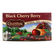 Celestial Seasonings Herbal Tea Caffeine Free Black Cherry Berry - 20 Tea Bags - Case Of 6