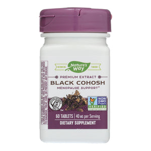 Nature's Way - Standardized Black Cohosh - 60 Tablets