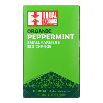 Equal Exchange Organic Peppermint Tea - Peppermint Tea - Case Of 6 - 20 Bags