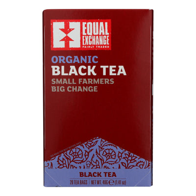 Equal Exchange Organic Black Tea - Black Tea - Case Of 6 - 20 Bags