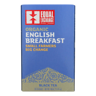 Equal Exchange Organic English Breakfast Tea - English Breakfast Tea - Case Of 6 - 20 Bags