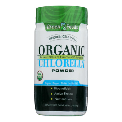 Green Foods Organic Chlorella Powder - 2.1 Oz