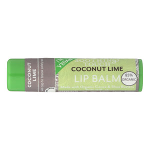 Soothing Touch Lip Balm - Organic Coconut Lime - Case Of 12 - .25 Oz