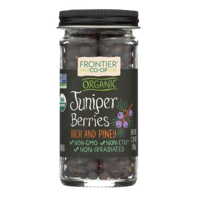 Frontier Herb Juniper Berries - Organic - Whole - 1.28 Oz