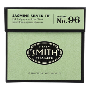 Smith Teamaker Green Tea - Jasmine Silver Top - 15 Bags