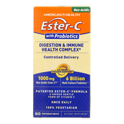 American Health Ester-c Digestion And Immune Health Complex - 1000 Mg - 60 Vegetarian Tablets