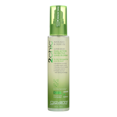 Giovanni Hair Care Products Spray Leave In Conditioner - 2chic Avocado - 4 Oz