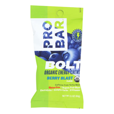 Probar Bolt Energy Chews - Organic Berry Blast - 2.1 Oz - Case Of 12