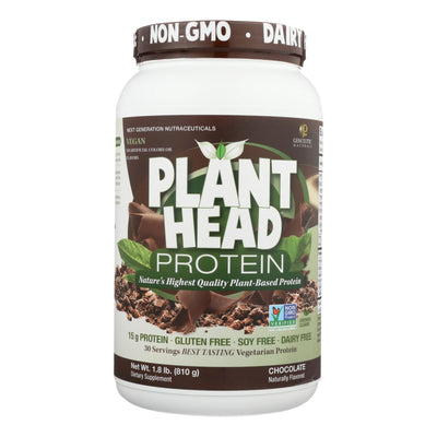 Genceutic Naturals Plant Head Protein - Chocolate - 1.7 Lb