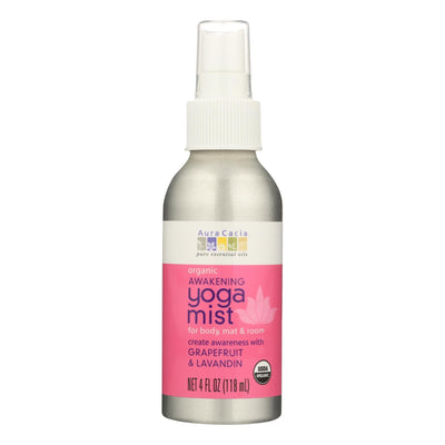 Aura Cacia Organic Yoga Mist - Awakening Grapefruit And Lavandin Orange - 4 Oz