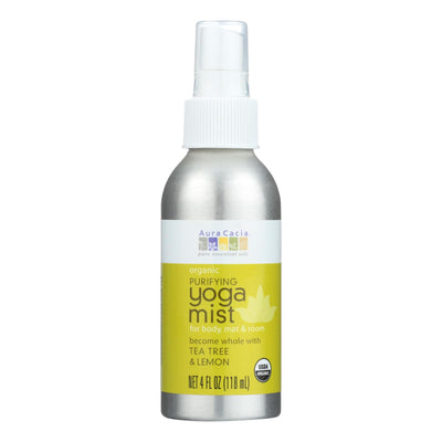 Aura Cacia Organic Yoga Mist - Purifying Tea Tree And Lemon - 4 Oz