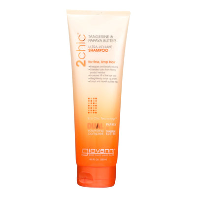 Giovanni Hair Care Products 2chic Shampoo - Ultra-volume Tangerine And Papaya Butter - 8.5 Fl Oz