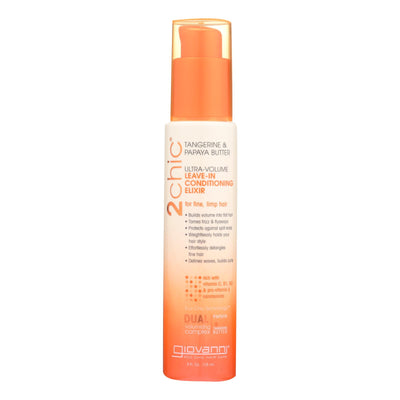 Giovanni Hair Care Products 2chic Conditioning Elixir - Ultra-volume Tangerine And Papaya Butter - 4 Fl Oz