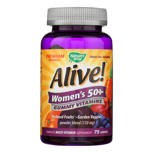 Nature's Way Alive - Women's 50+ Gummy Multi-vitamins - 75 Chewables