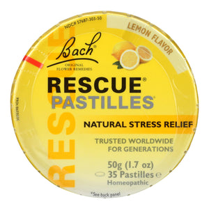 Bach Rescue Remedy Pastilles - Lemon - 50 Grm - Case Of 12