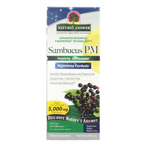 Nature's Answer Sambucus - Pm Nighttime - 4 Fl Oz