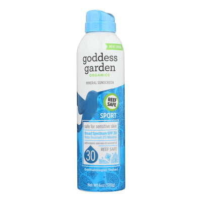 Goddess Garden Sunscreen - Organic - Sun Sport - Continuous Spray - 6 Fl Oz