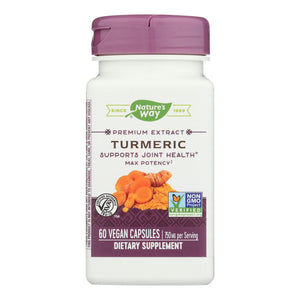Nature's Way Turmeric - Maximum Potency - 750 Mg - 60 Vegetarian Capsules