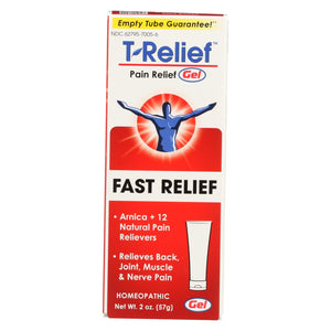 T-relief Pain Relief Gel - Arnica Plus 12 Natural Ingredients - 1.76 Oz