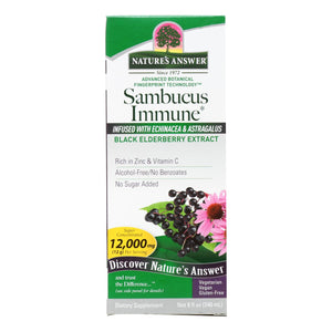 Natures Answer Sambucus Immune Support - 8 Oz