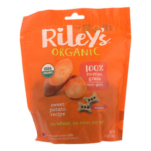 Riley's Organics Organic Dog Treats, Sweet Potato Recipe, Small  - Case Of 6 - 5 Oz