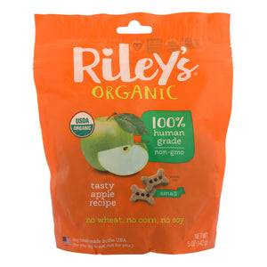 Riley's Organics Organic Dog Treats, Apple Recipe, Small  - Case Of 6 - 5 Oz