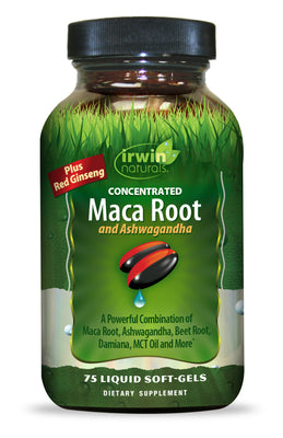 Maca Root and Ashwagandha 75 Liquid Soft-Gels
