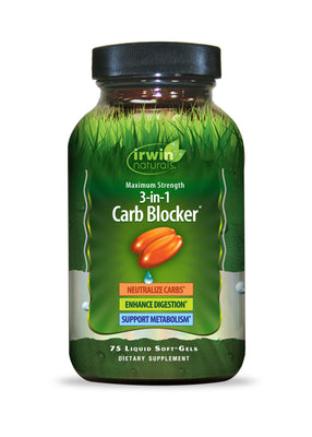 Maximum Strength 3-in-1 Carb Blocker® 75 Liquid Soft-Gels