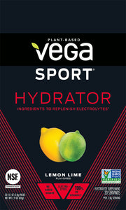 Vega Sport® Electrolyte Hydrator - Lemon Lime,  Box of Single Packs (30 x 3.7g/0.13oz)