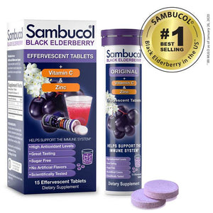 SAMBUCOL EFFERVESCENT TABLETS - 15CT
