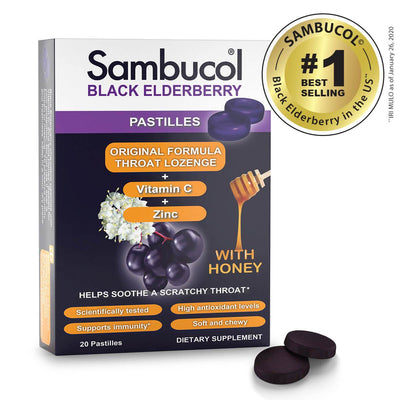 SAMBUCOL PASTILLES THROAT LOZENGE - 20CT