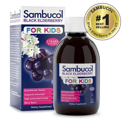 Sambucol Black Elderberry Liquid For Kids, 7.8 fl oz