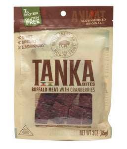 Tanka Bar Bites - Buffalo With Cranberry - 3 Oz Pouch
