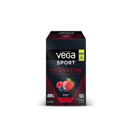 Vega Sport® Electrolyte Hydrator - Berry,  Box of Single Packs (30 x 3.7g/0.13oz)