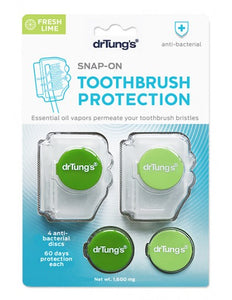 DRTUNG'S SNAP-ON TOOTHBRUSH SANITIZER - 2 PACK