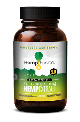 5.0 Phytocomplex Extra-Strength Hemp Extract Bottle