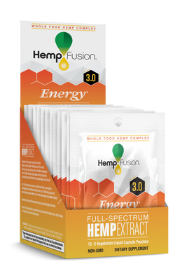 3.0 Energy Hemp Phytocomplex Box/ 12 - 2count Travel Packets